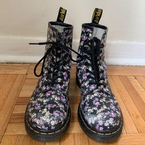Floral Dr Martin Boots